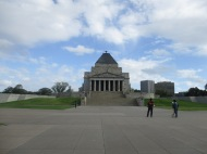 The Shrine of Remembrance in King's Domain, Melbourne Australia