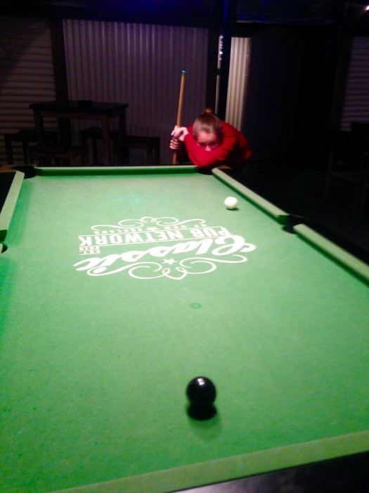 Playing pool in a