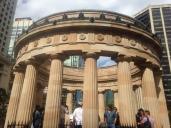 The Anzac memorial made of sandstone in Brisbane