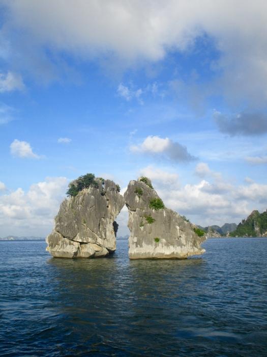 Kissing Rocks of Halong Bay