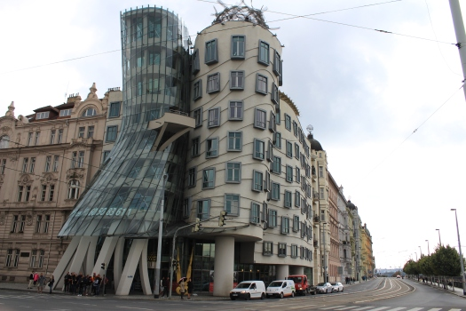 Dancing House in south west Prague