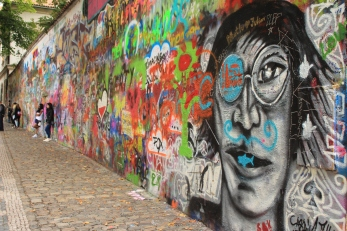 The man himself from John Lennon Wall