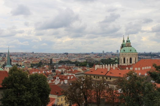 Views over Prague from the top of the castle complex