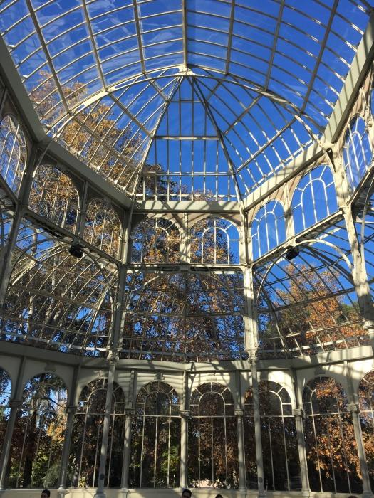 Inside the Palacio de Cristal in Buen Retiro park, Madrid